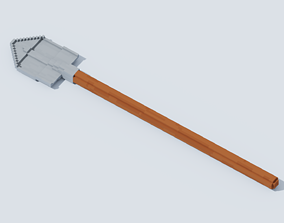 3D asset Voxel Shovel T2