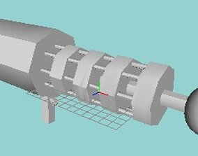 gatling tesla coil rifle ring coil model low-poly