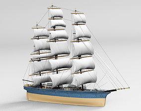 Vintage ship 3D model