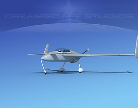 3D model Rutan VariEze Bare Metal