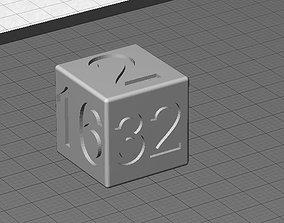 Doubling Cube for Backgammon 3D print model