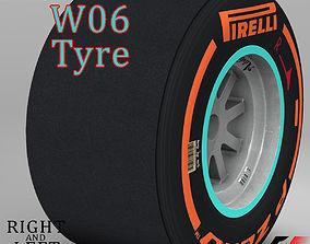 3D model W06 Hard Rear tyre