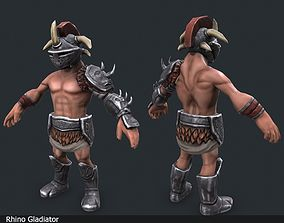 3D model animated Lowpoly Gladiators