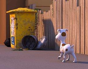 3D asset dog-puppy