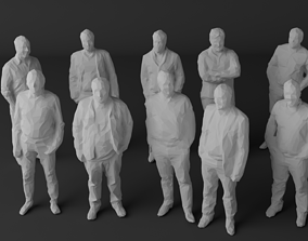 10 Low Poly People Pack Vol 4 3D model