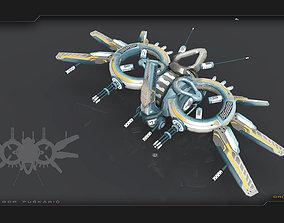 3D asset Drone Alen Lava