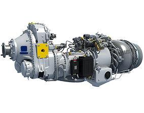 Turboprop Engine Pratt and Whitney Canada PW100 3D model