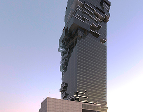 Revit Tower 3D model render
