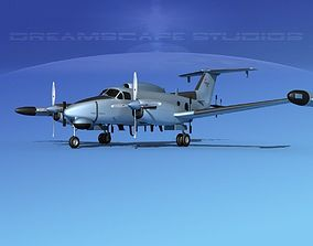 Beechcraft RC-12Q Guardrail USAF 2 3D