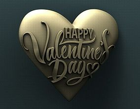 3d STL Model for CNC Router - Happy Valentines Day