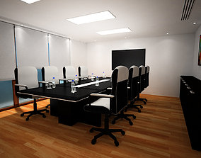 Conference room 3D model meeting