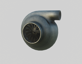 3D model Turbine for car low poly PBR game ready