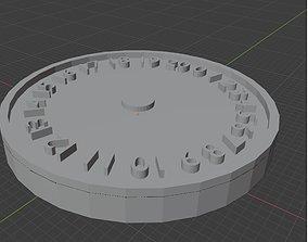 3D printable model Noir Angels 0-20 Wound Tracker