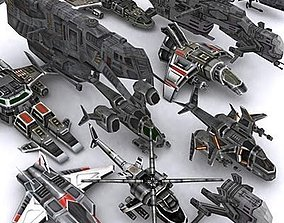 Sci-Fi Airspace pack 3D model realtime