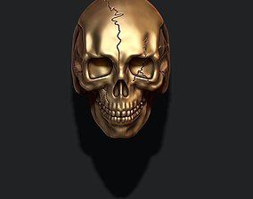 skull ring with cracks 3D print model