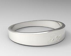 3D printable model Joy Female Ring Silver