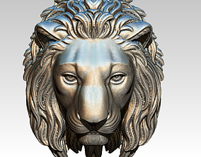 3D printable model Detailed Wild King Lion Head Face
