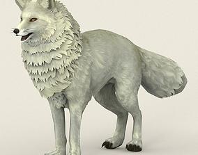 3D model game-ready Game Ready White Fox