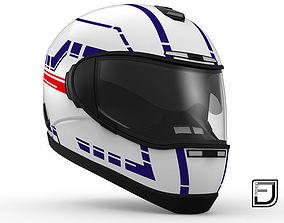 White Helmet H06 3D motorcycle-helmet