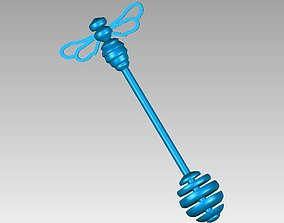 3D printable model Honey Wand with Bee on Top