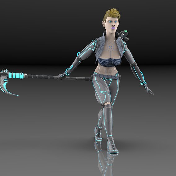 Cyborg ( GLITCH )re- posed and rendered