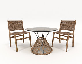 Outdoor Rattan Furniture Set 3D model