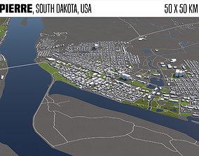 Pierre South Dakota USA 50x50km 3D