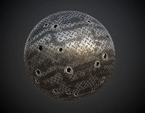 Metal Plated Seamless PBR Texture 3D model