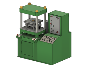 3D asset low-poly Laufer hydraulic moulding press