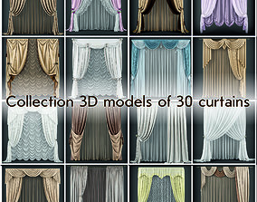 low-poly Collection 3D models of 30 curtains-1