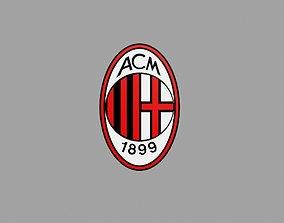 AC MILAN FC LOGO 3D asset