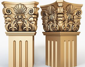 3D Classical Column for cnc