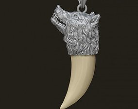 3D printable model Wolf tooth nail pendant
