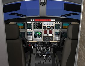 3D animated Beechcraft Starship 2000 T02