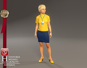 3D model Hostess Female ECC 2130 0005