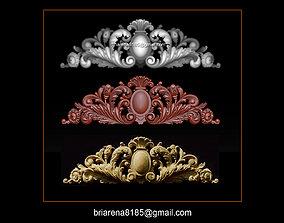 Baroque ornaments model