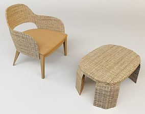 table chair 3D asset