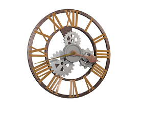 sTEAMpUNK wALL CloCK 3D model