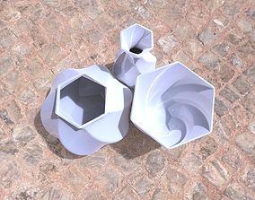 Vase Hexagon 3 kinds 3D printable model