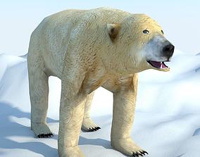 3D model low-poly Low Poly Polar Bear