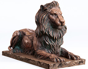 Lion Sculpture 3d print model figurines