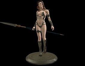 Knight Female 3D asset