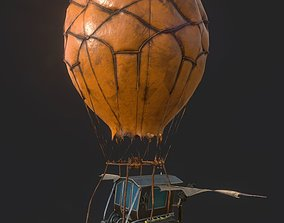 Steampunk AirShip Low-poly 3D model PBR low-poly
