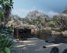 3D model Tropical Island Scene