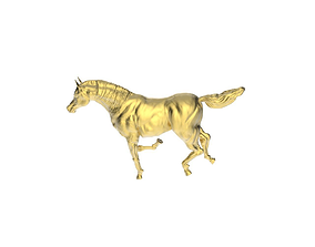 3D printable model Arabic Horse in 1