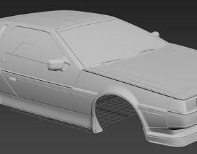 De Lorean Printable 3D Body Car