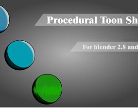3D model game-ready Toon Shader for Blender