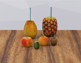 3D model game-ready Fruit Juices