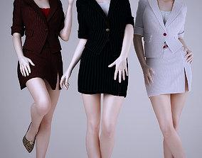 3D Wear work uniforms office girl
