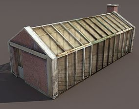 game-ready Greenhouse Old Low Poly 3d Model